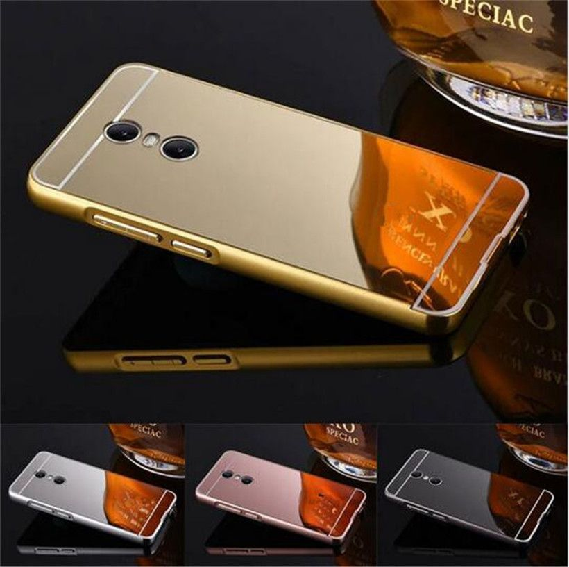 free shipping 23c57 46e2f Fashion Luxury Rose Gold Mirror Cases For Lenovo K6 Note Alumimum ...