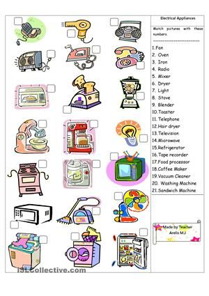 things that use electricity worksheet - Google Search | asdan ...