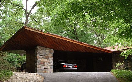 A frank lloyd wright car port he had no tolerance for for Usonian house plans for sale