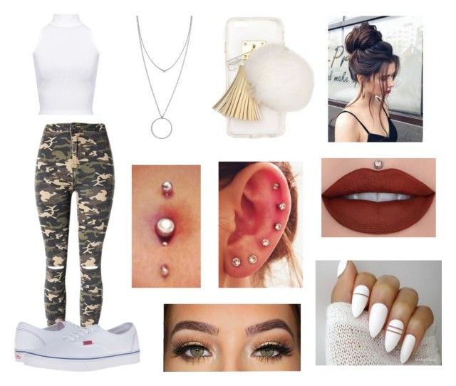 """""""Untitled #374"""" by ignoredpest ❤ liked on Polyvore featuring Lime Crime, Ashlyn'd, WithChic, WearAll, Vans, Botkier and LORAC"""