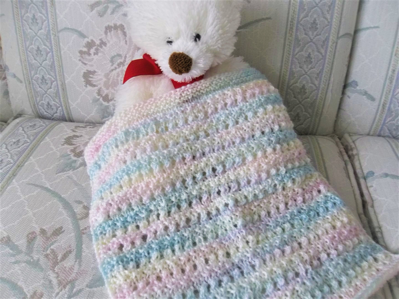Knit Doll Blanket Multicolor Doll Blanket Hand Knit Doll Blanket
