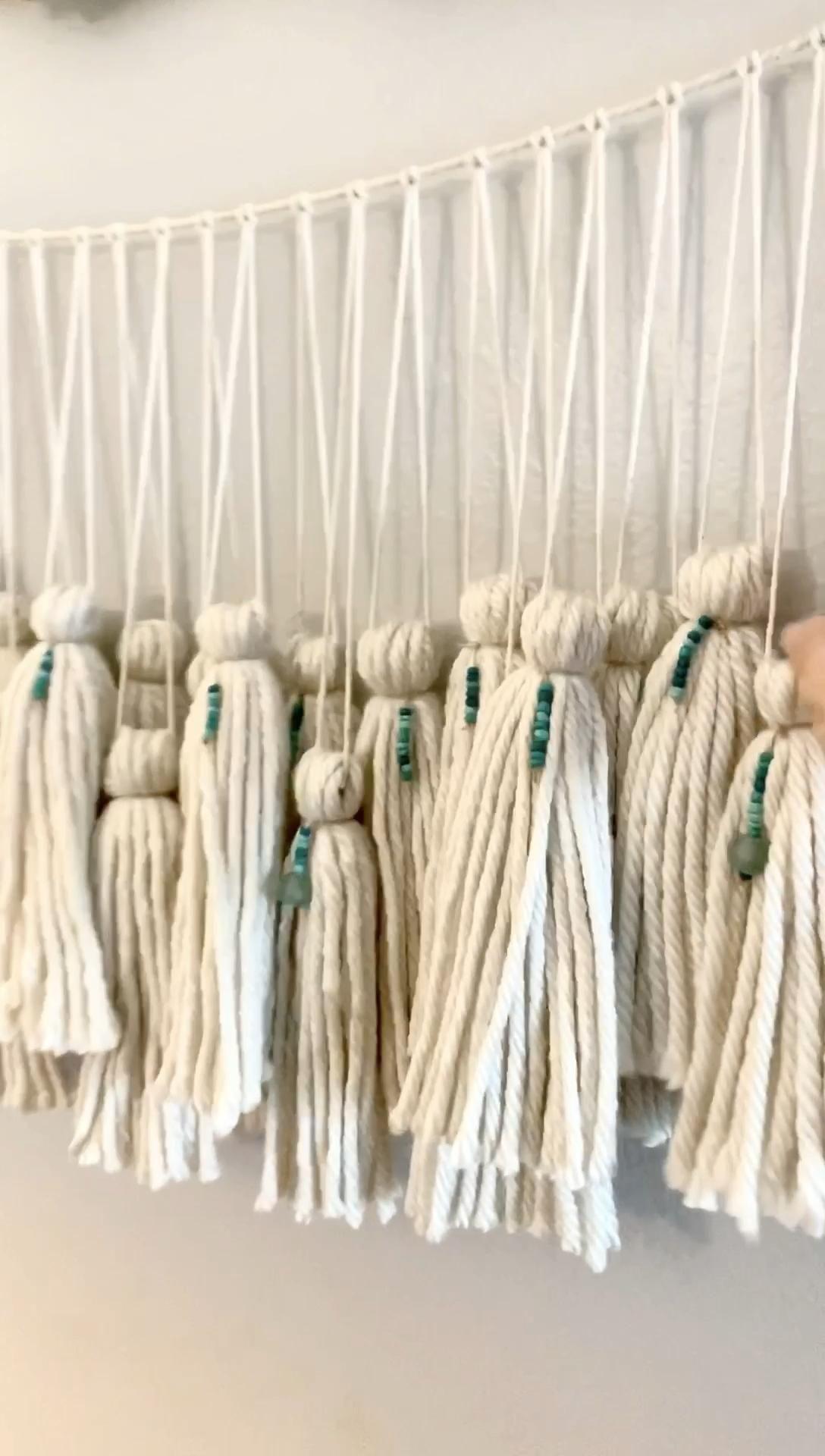 Photo of Large Boho Yarn Wall Hanging