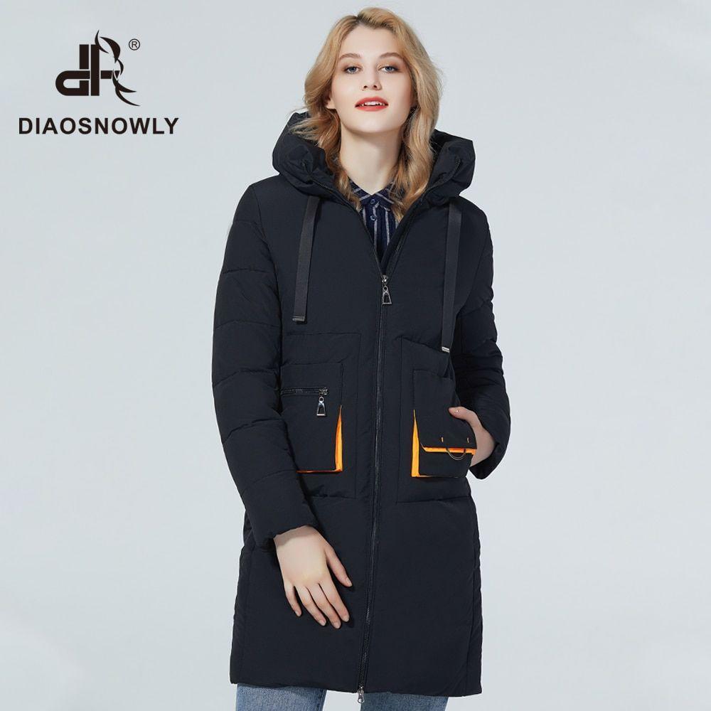 Diaosnowly 2020 fashion jacket long woman winter hooded coats and jackets  long warm women's jacket w… in 2020 | Winter jackets women, Warm jackets  for women, Winter jackets