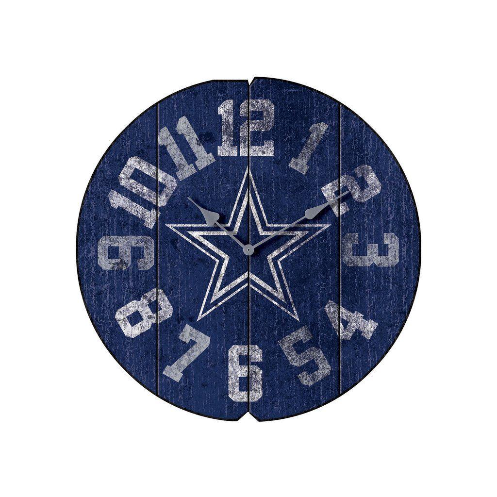 Dallas cowboys vintage round clock #mancavegarage