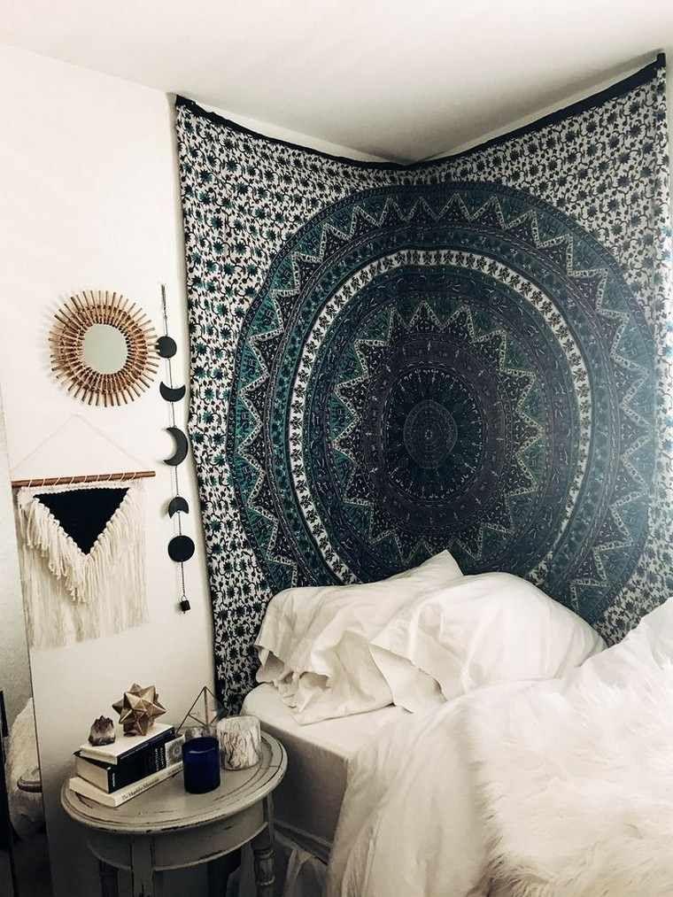 boho chic l 39 esprit boh me s 39 invite dans la chambre coucher moderne style ethnique deco. Black Bedroom Furniture Sets. Home Design Ideas
