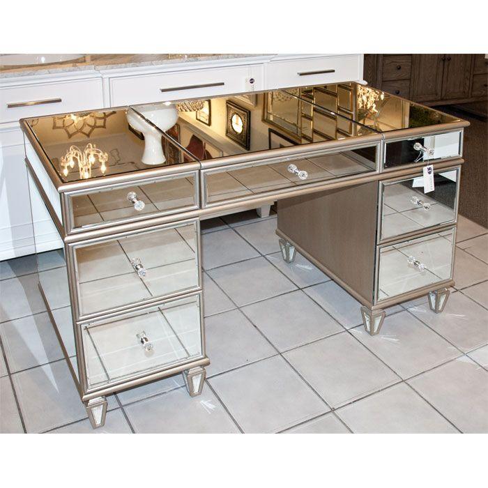 Mirrored Vanity Table, Desk   Biuro   Pinterest   Mirrored vanity ...