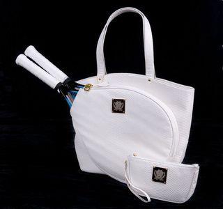 Court Couture White Python Bag