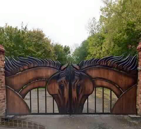 I so want to build this gate like this for somebody.  Or may just have to build it for me.