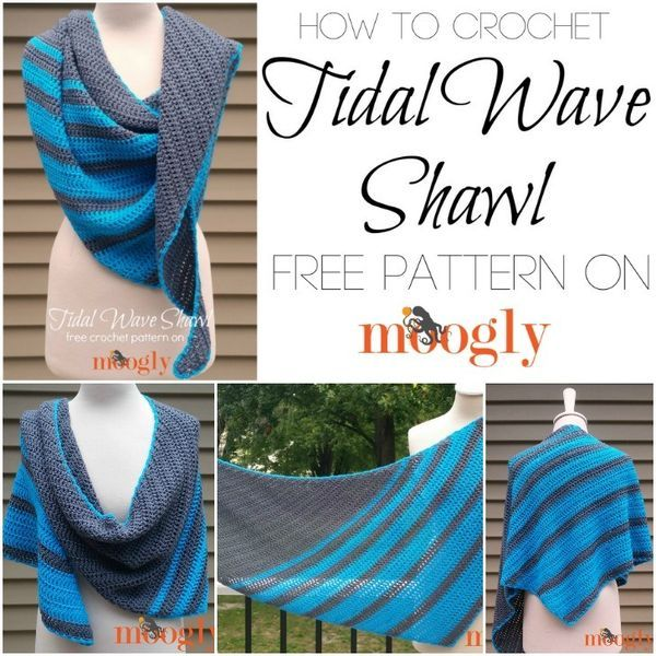 How to crochet the Tidal Wave Shawl - video tutorial on ...