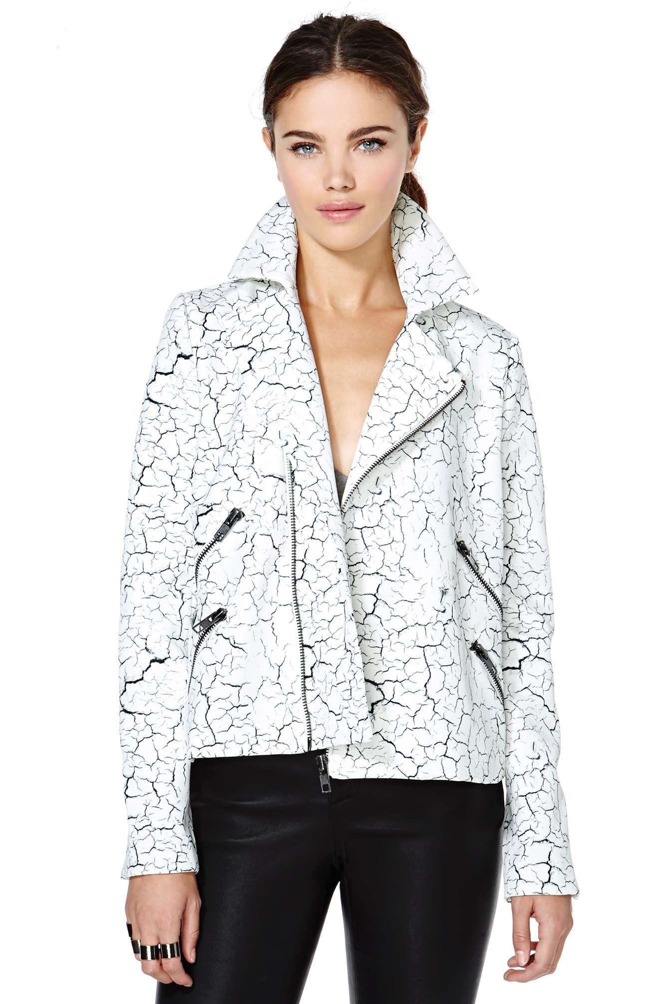 Cameo Terrible Lover Moto Jacket | Shop Swim City at Nasty Gal #streetstyle