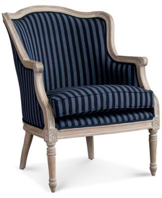 Karine French Accent Chair French Accent Chairs Stripe Accent