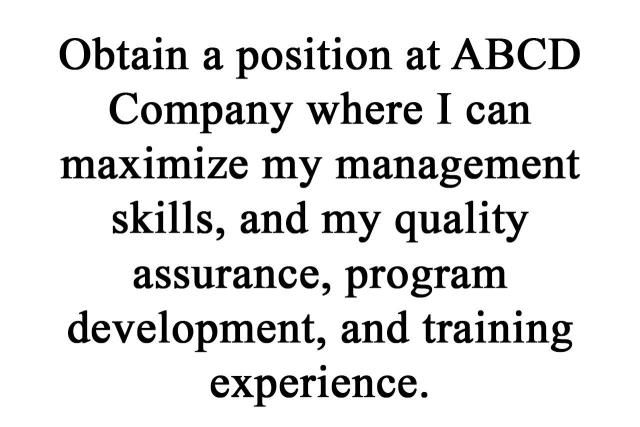 Sample Objective Statements for Your Resume Resume objective and