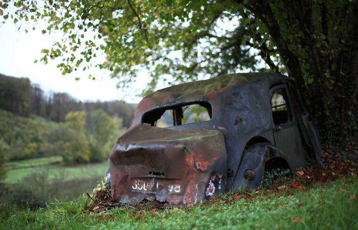Oude Franse Auto Landschappen Prachtige Landschappen Foto S