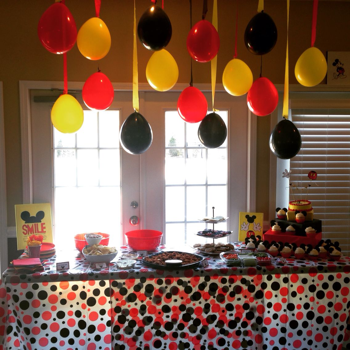 Mickey Mouse themed first birthday party Mickey mouse