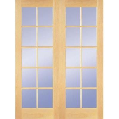 Builders Choice 48 In X 80 In 10 Lite Clear Wood Pine Prehung Interior French Door Hdcp151040 With Images French Doors Interior Prehung Interior French Doors Discount Interior Doors