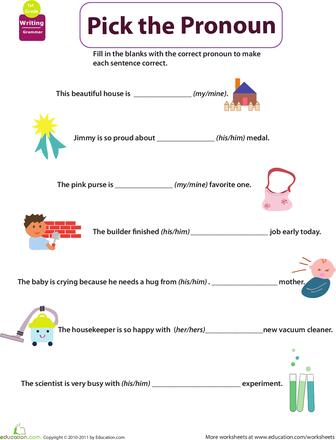 Get into Grammar: Pick the Pronoun | Worksheets, Homeschool and ...