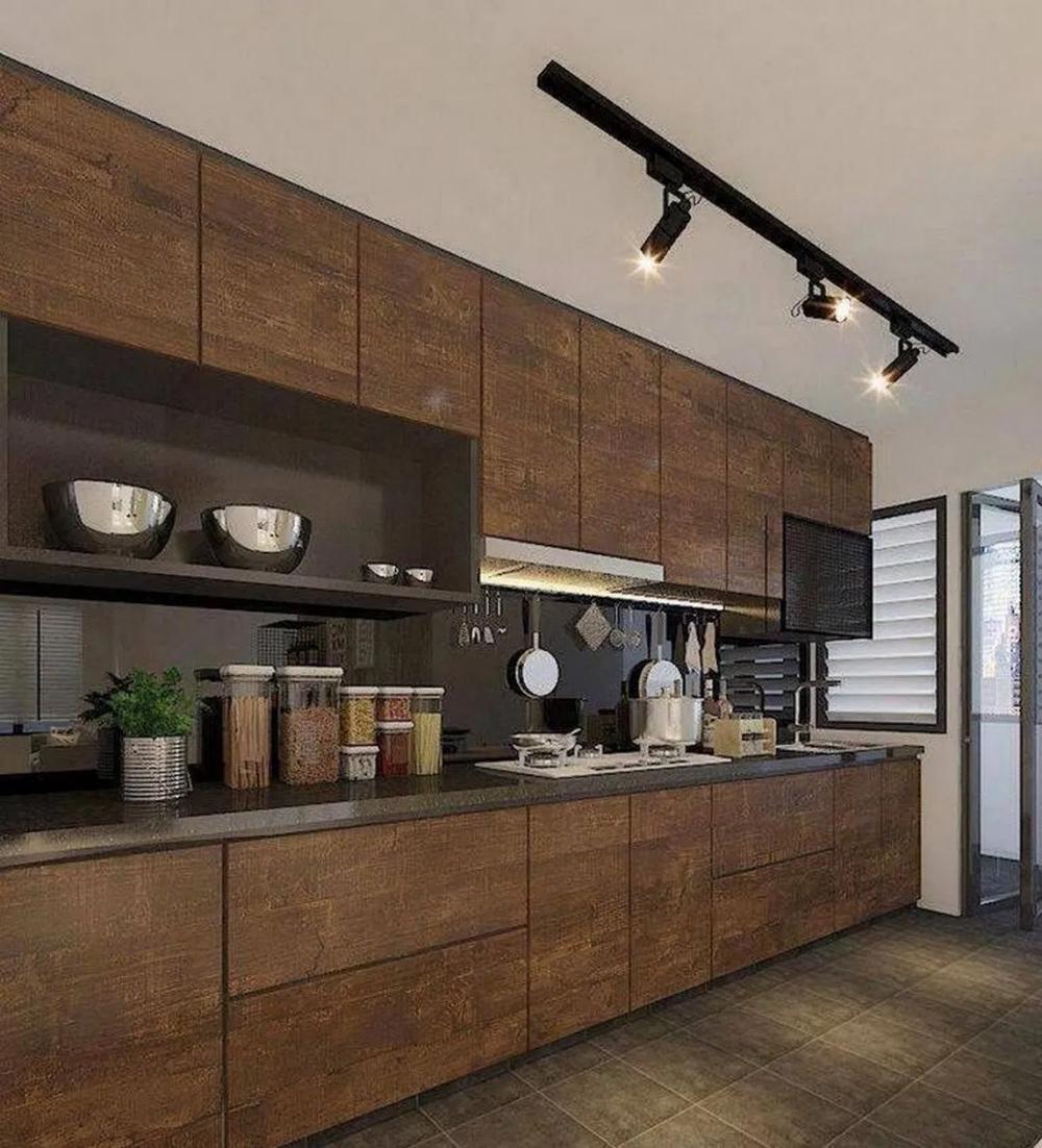 50 Amazing Black Kitchen Design Ideas 2020 22 Dekorasi Rumah Interior Desain Furnitur