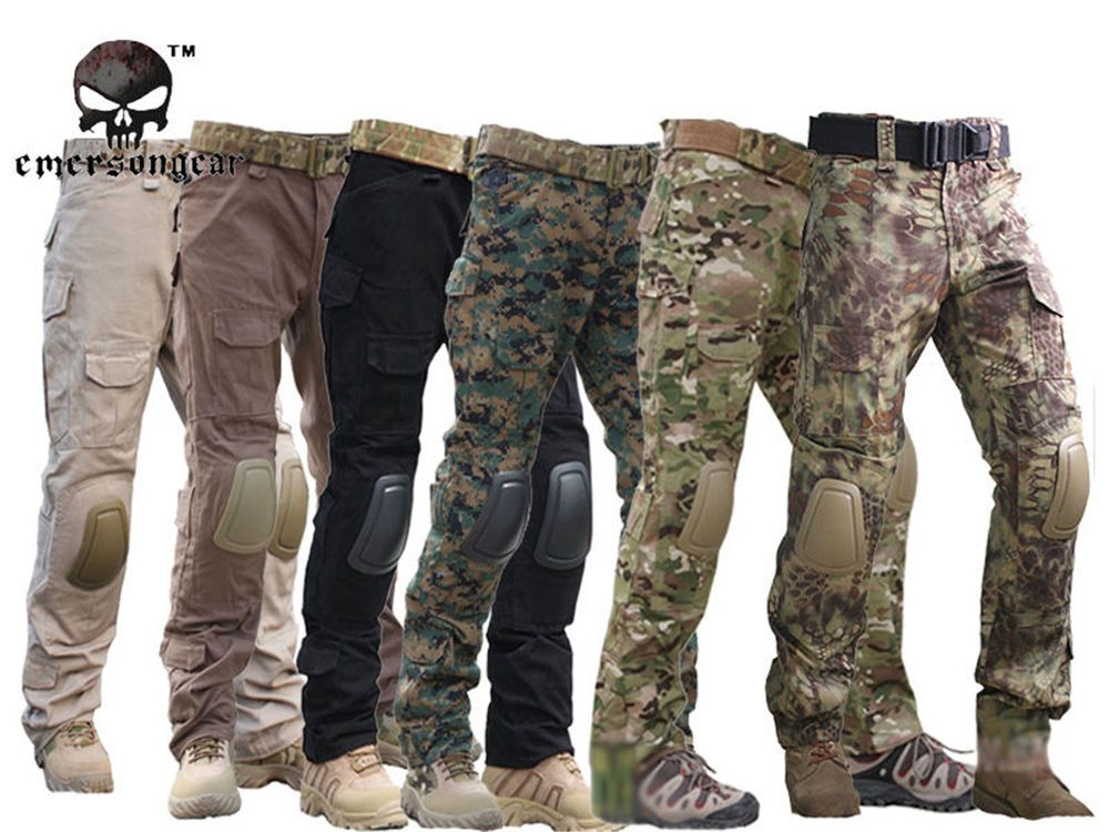 Tactical Pants with Knee Pads Emerson Gen2 Camping…Hiking Hunting Trousers New