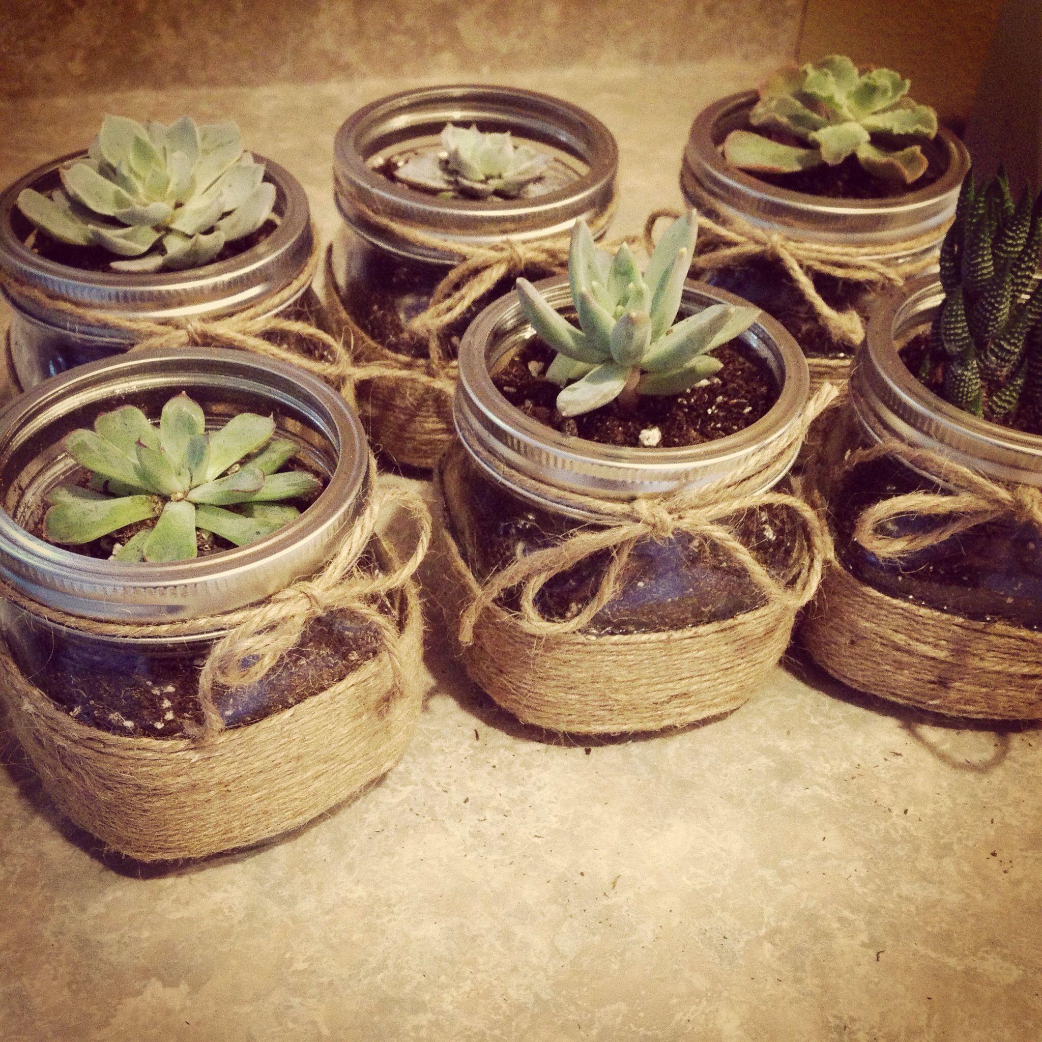 Terrarium Crafts, Homemade Gifts, Mason Jar Succulents