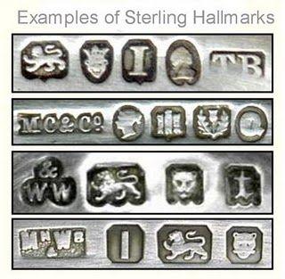 identifying silver hallmarks