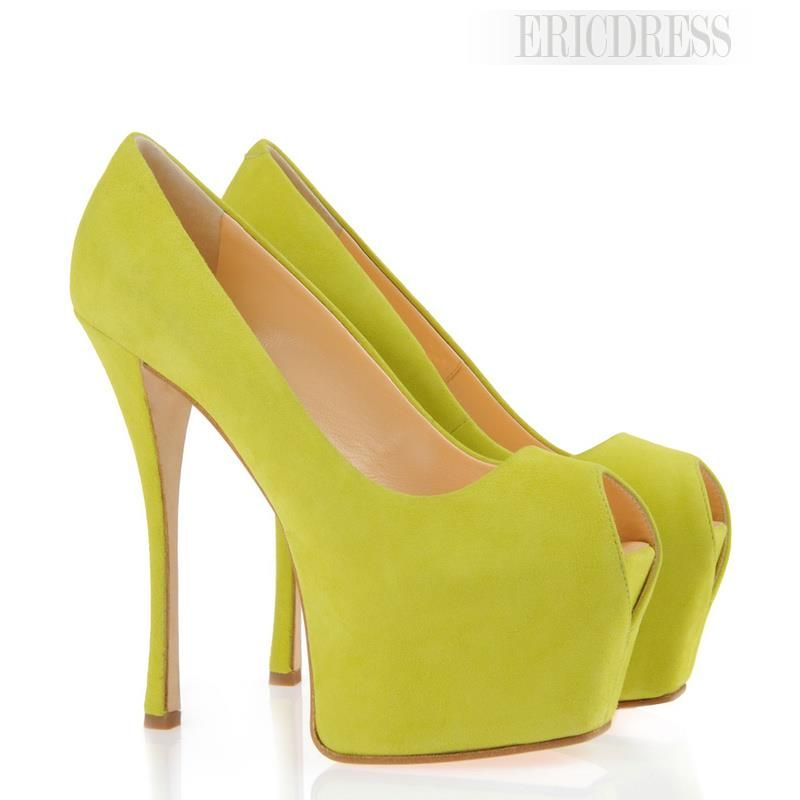Delightful Pure Color Women's Peep Toe Prom Shoes Prom Shoes