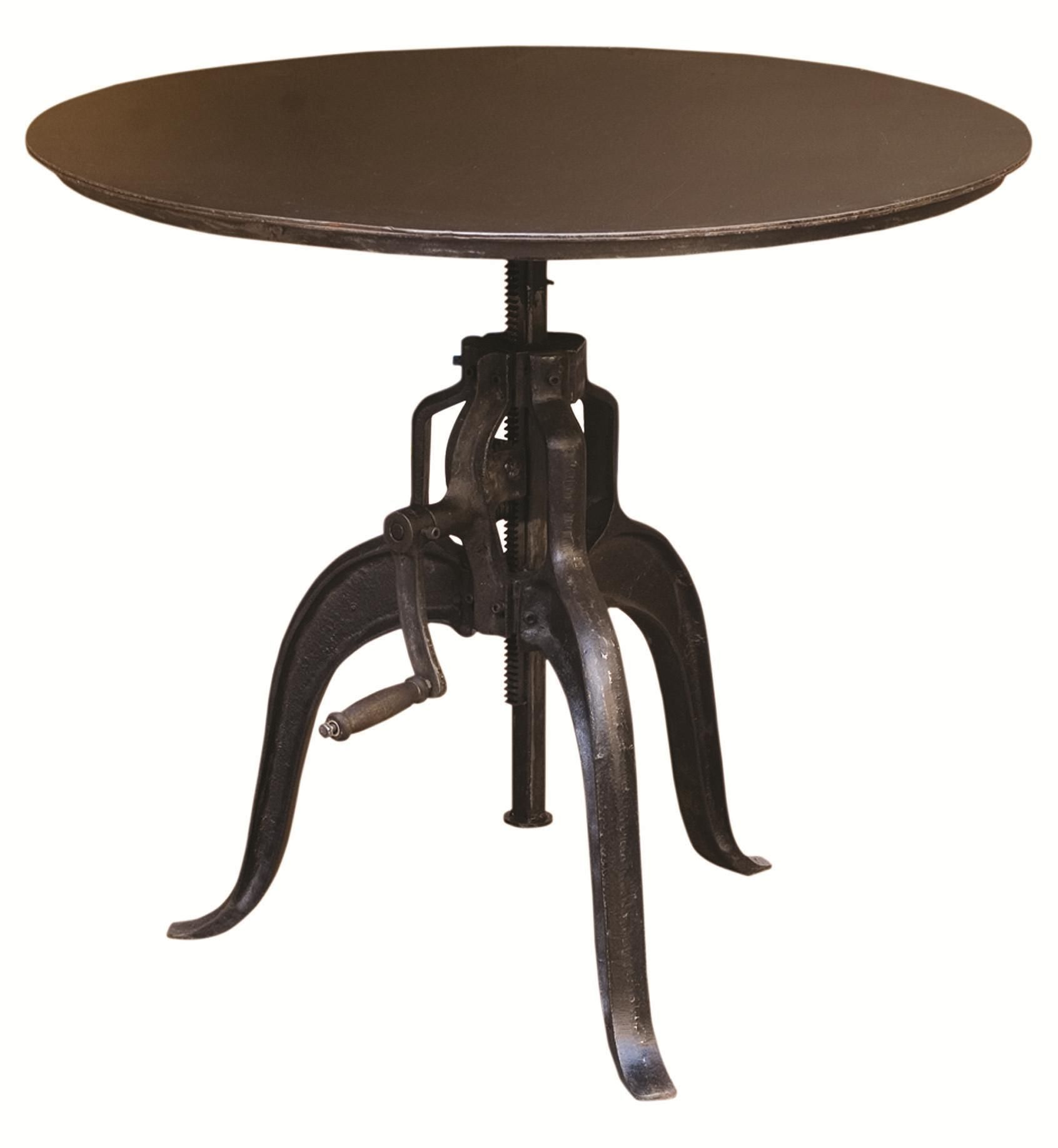Industrial Style Round Dining Table Rockwell Round Adjustable Industrial Style Table By Four Hands