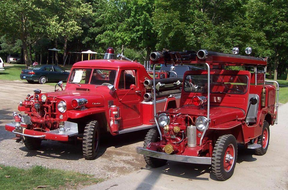 The Cj3a Page Fire Jeeps And Trucks Fire Trucks Trucks Fire Equipment