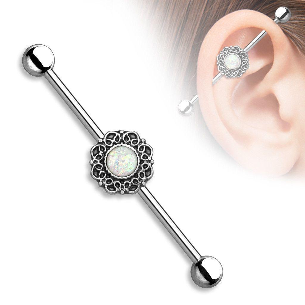 316L Surgical Steel Scaffold Industrial Barbell Earring Tribal Bars Piercing 14G