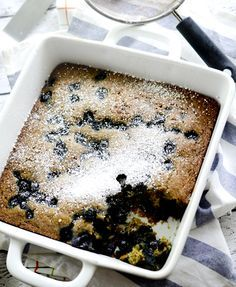 Overnight Blueberry Coffee Cake  -  fruit, whole wheat flour, cinnamon, ginger, greek yogurt, applesauce, etc.  healthy/diet version.  lower in carbs and calories.  sweet dessert, snack.  want!   lj