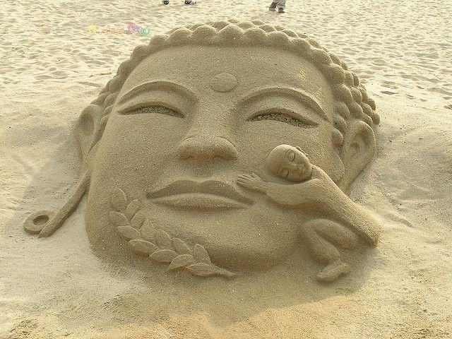 Sand Sculpture on Haeundae Beach | Outside the Box Garden ...