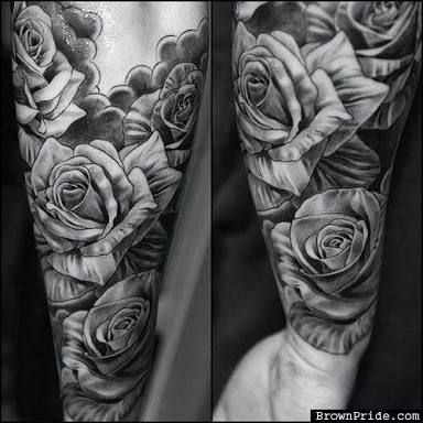 6345d168dd4a4 Image result for tattoos for men roses | Creative Sleeve Tattoos ...
