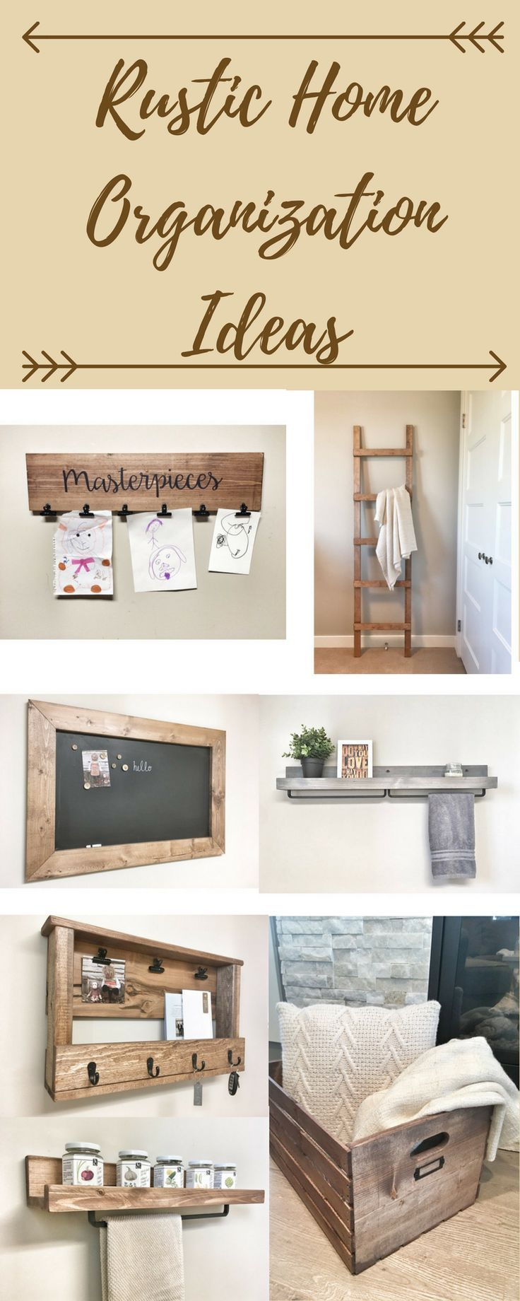 Organize your home with these rustic decor ideas. Farmhouse decor ...