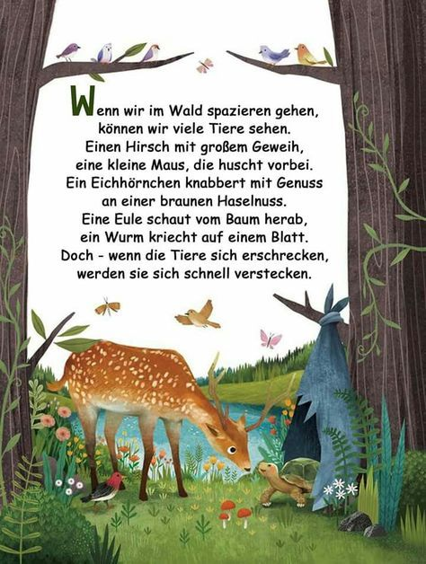 Pin Von Monique Auf Tiere Aktivitaten Im Kindergarten Gedichte Fur Kinder Kinder Gedichte