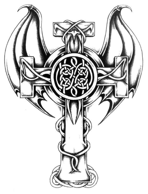Cross Viking Hache Tatouage