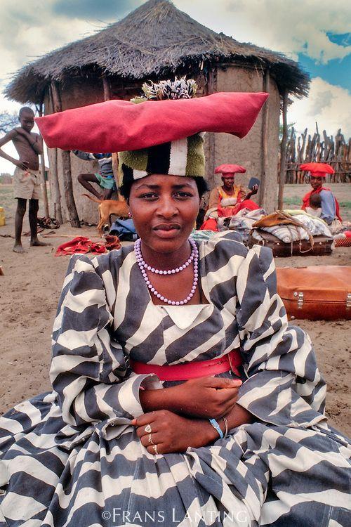 botswana cultural dress   Herrero woman, Okavango Delta, Botswana