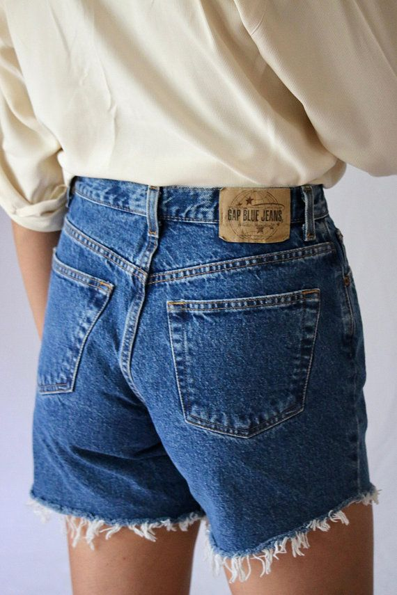 dec46752ad Vintage Gap Denim cut offs   shorts   jean shorts   mom jeans   high rise    high waisted   90s   80s