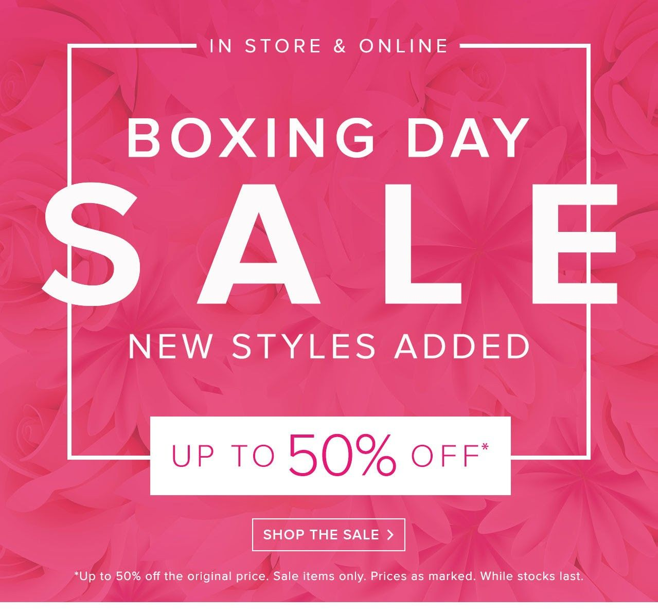 Bargain Up To 50 Off Boxing Day Sale Starts Now Forever New Boxing Day Sale Banner Day