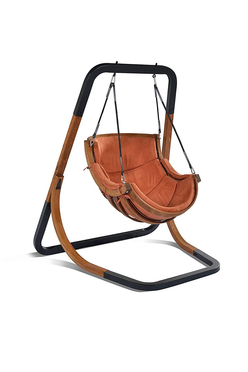 Trapezoid swing chairthe brand new style swing chair in wood and