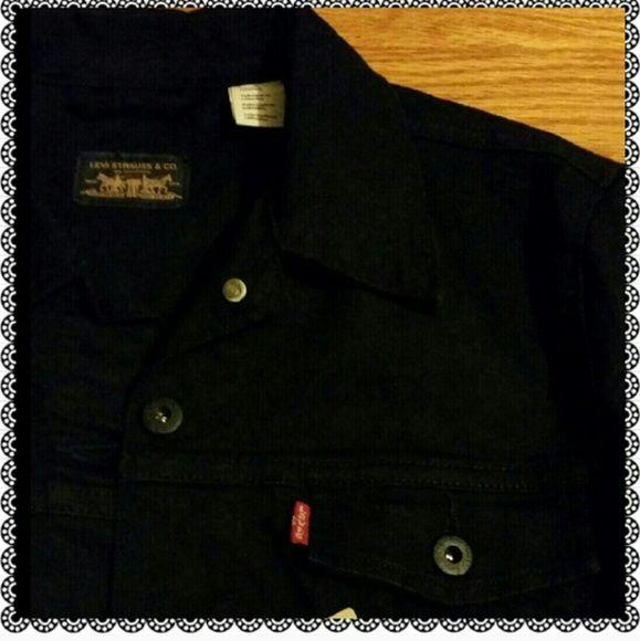 Medium Black Denim Size With Stretchable New Tag Jacket Levis q7Uw8xqR