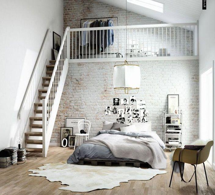Ideias para um quarto com estilo industrial ~ Decoração e Ideias - casa e jardim