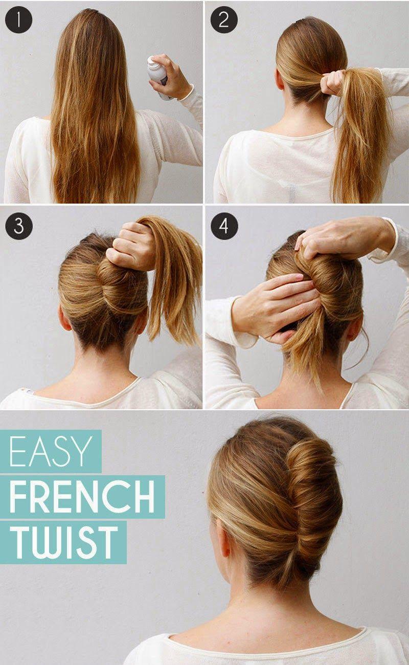 Long Hair French Twist Bun In Few Minutes Step By Step Entertainment News Photos Videos Bun Hairstyles For Long Hair Medium Hair Styles French Twist Hair