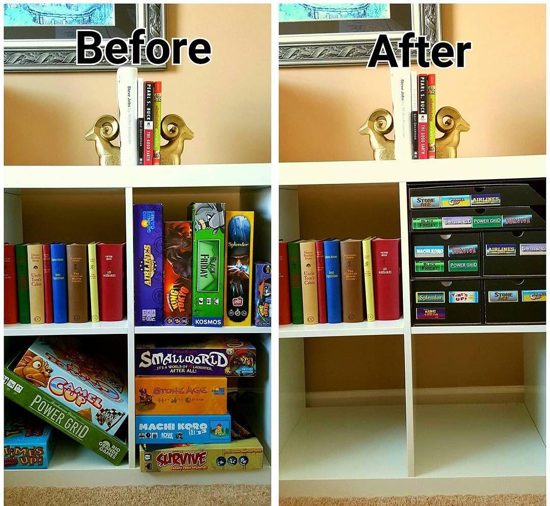 Love This Idea For Board Game Storage So Simple Minimalist