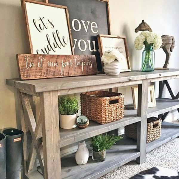 Sign Maker On Fixer Upper Decor Wooden Signs Console Tables Birch Family Rooms Consoles