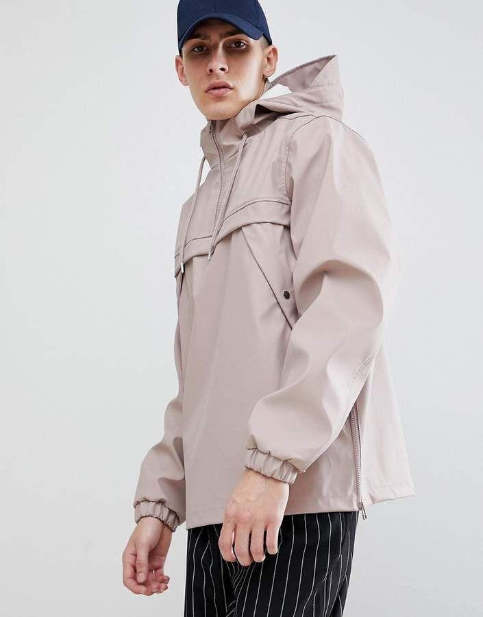 New Look Overhead Rain Jacket In Dusty Pink Jackets Fashion Line Fashion