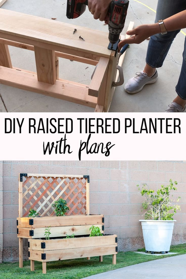 DIY Tiered Raised Garden Bed - VideoTutorial and Plans, # ...