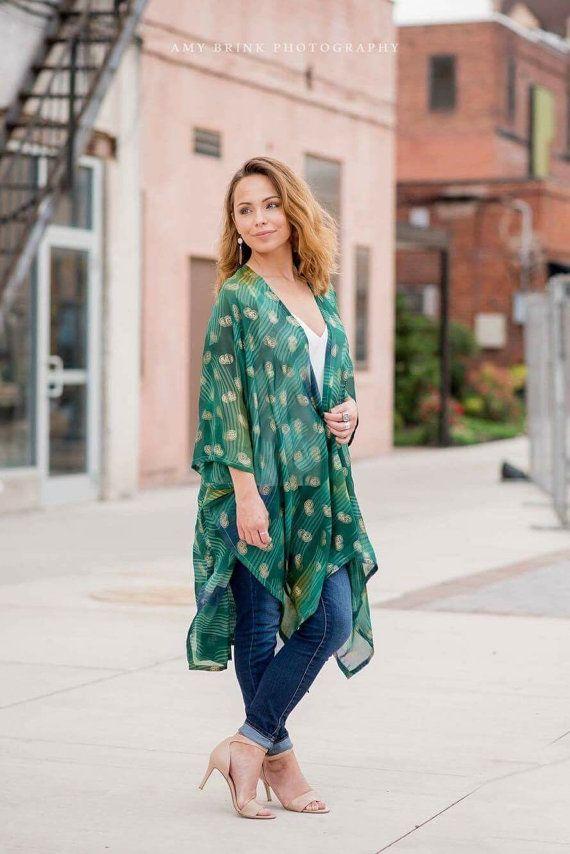 Kimono  Kimonos  Cardigan  Poncho  Dress Top by ArrowThreadDesigns