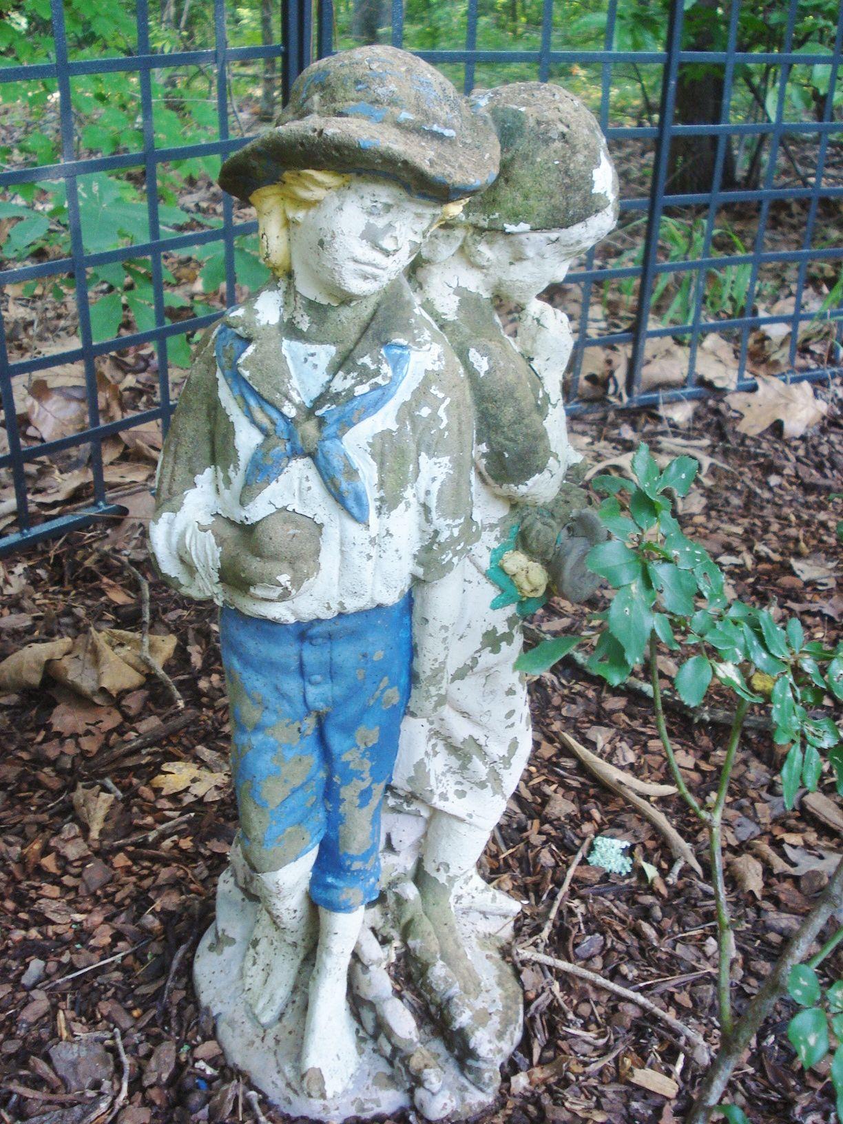 Shabby Chippy Concrete Garden Statues Garden Statues 400 x 300