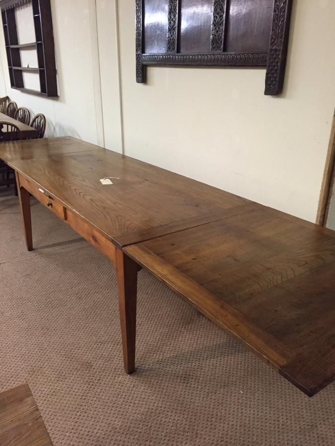 Antique Cherry And Chestnut Gorgeous Double Drawer Leaf Table When Table Closed Measures 7 Antique Table French Farmhouse Dining Table Antique Dining Tables