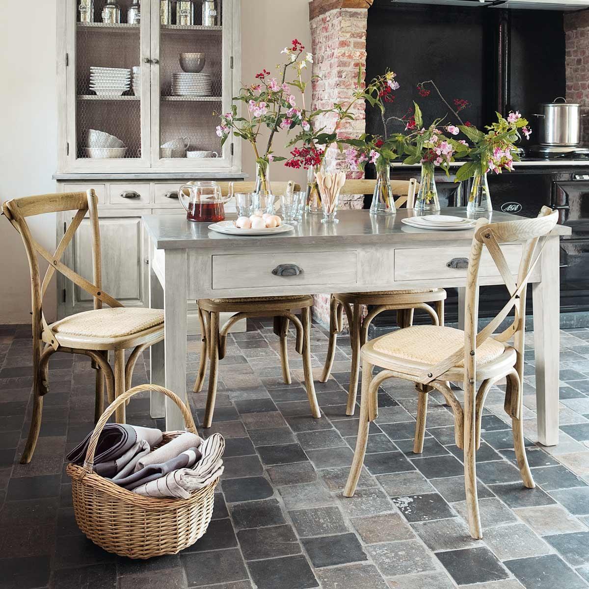 Table à dîner Zinc | French riviera | Pinterest | Maison du monde ...