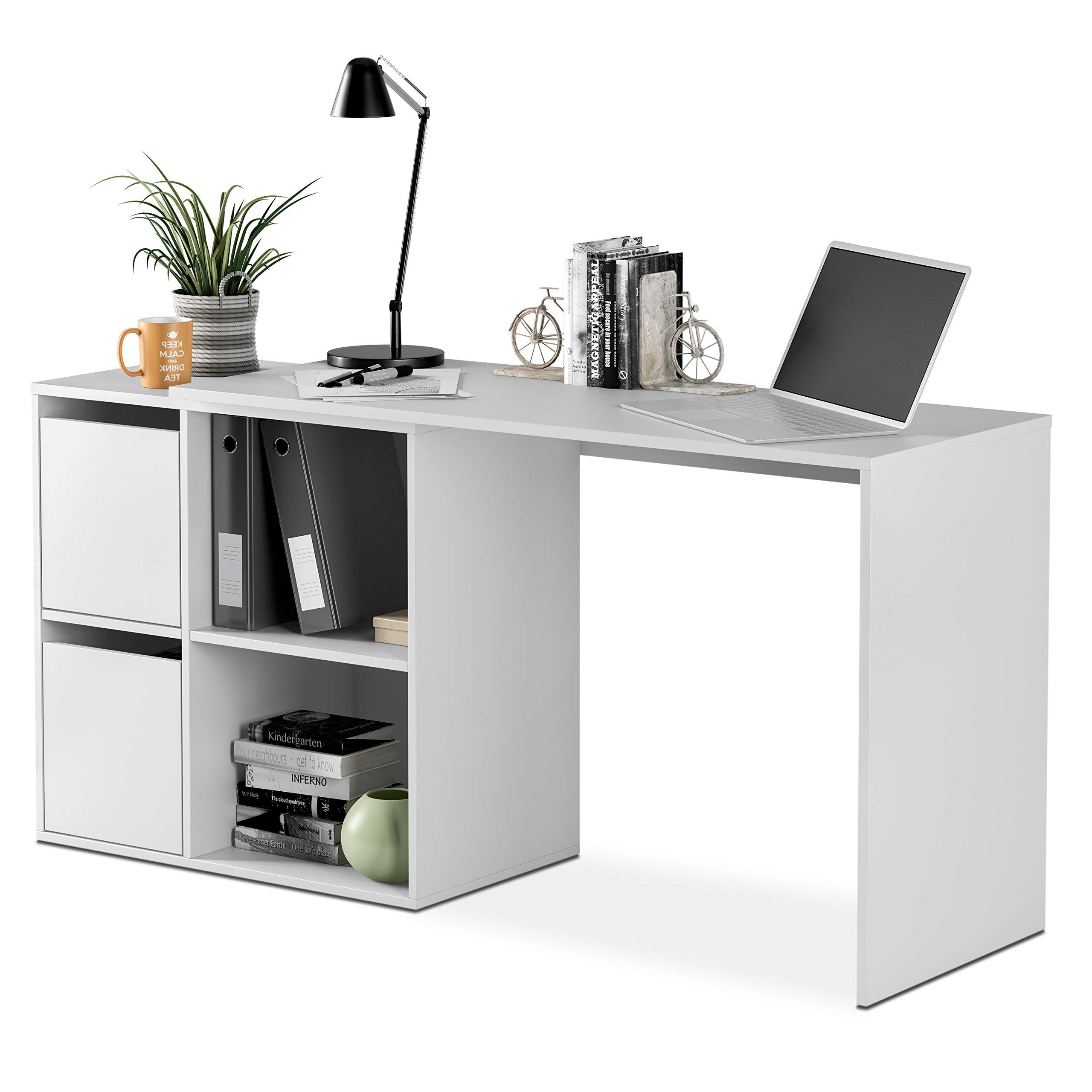 bureau blanc 74 x 120 x 77 cm